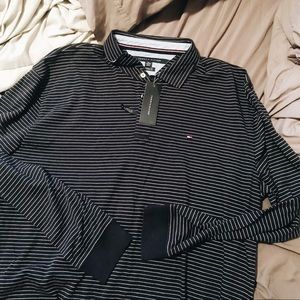 Tommy Hilfiger striped long sleeve polo